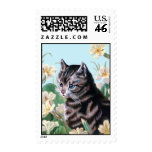 Cute kitten - vintage cat art postage stamps