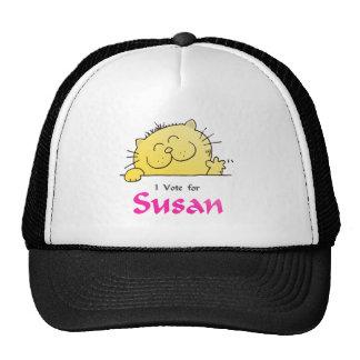 Cute Kitten Vote For Susan Trucker Hat