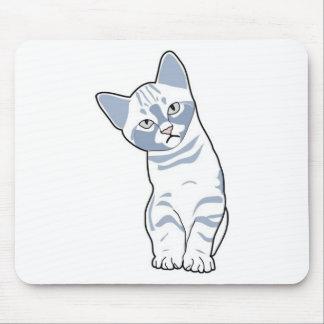 Cute kitten white mouse pad