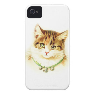 Cute kitten with bells on necklace - for cat lover iPhone 4 cover