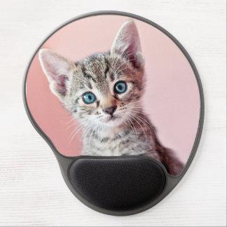 Cute kitten with blue eyes. gel mouse mats