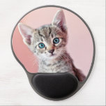 """Cute kitten with blue eyes. gel mouse pad<br><div class=""""desc"""">Kitty</div>"""