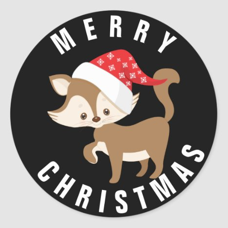 Cute Kitten with Santa Hat/ Christmas Sticker