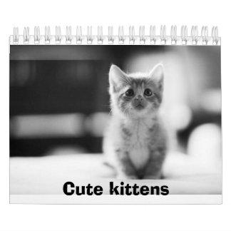Cute kittens Calender Wall Calendar