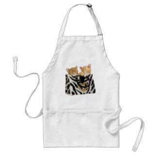 Cute Kittens in Zebra Print Handbag Apron