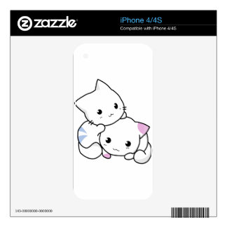 Cute kittens playing decals for iPhone 4S