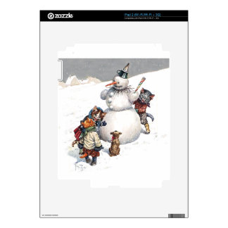 Cute Kittens Playing in the Snow iPad 2 Skin