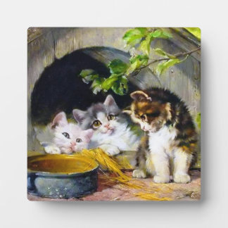 Cute Kittens Table Plaque With Easel