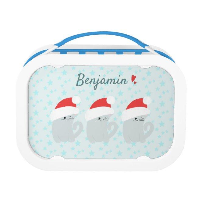 Cute Kittens w Santa Hats - Personalized Winter