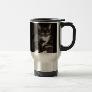 Cute Kitty 15 Oz Stainless Steel Travel Mug