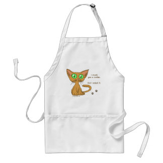 Cute Kitty Ate Your Cookie Adult Apron
