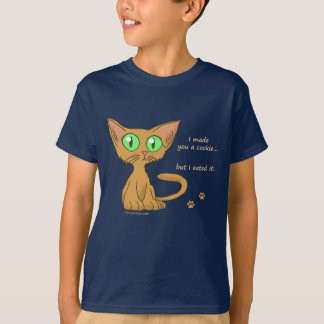 Cute Kitty Ate Your Cookie T-Shirts