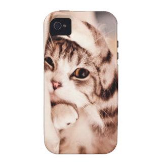 Cute kitty Case Mate Tough Case-Mate iPhone 4 Cover