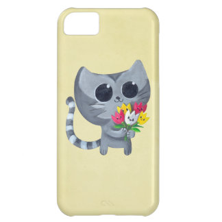 Cute Kitty Cat and flowers iPhone 5C Cover