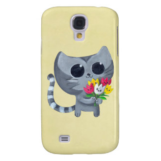 Cute Kitty Cat and flowers HTC Vivid / Raider 4G Case