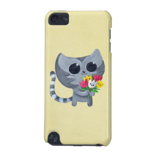 Cute Kitty Cat and flowers iPod Touch (5th Generation) Case