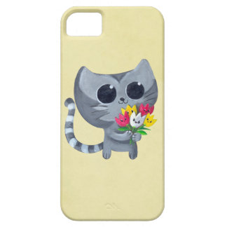 Cute Kitty Cat and flowers iPhone 5 Covers