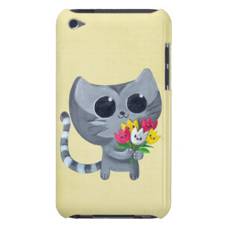 Cute Kitty Cat and flowers iPod Case-Mate Cases
