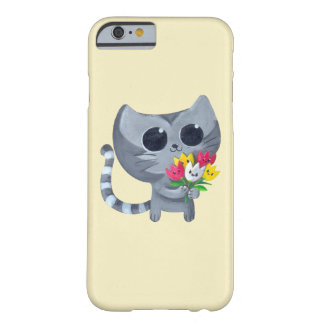 Cute Kitty Cat and flowers iPhone 6 Case
