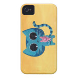 Cute Kitty Cat and Pig Case-Mate iPhone 4 Case