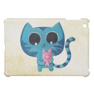 Cute Kitty Cat and Pig iPad Mini Covers