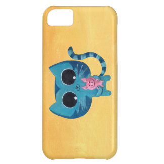 Cute Kitty Cat and Pig iPhone 5C Cover