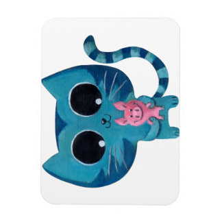 Cute Kitty Cat and Pig Magnet