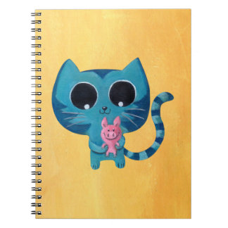 Cute Kitty Cat and Pig Note Books