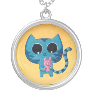 Cute Kitty Cat and Pig Pendants