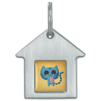 Cute Kitty Cat and Pig Pet ID Tags