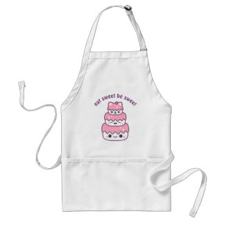 Cute Kitty Cat Cake Adult Apron
