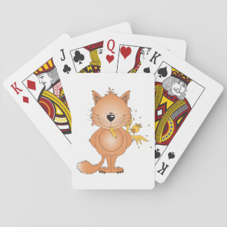 Cute Kitty Cat Cartoon and Friend Deck Of Cards