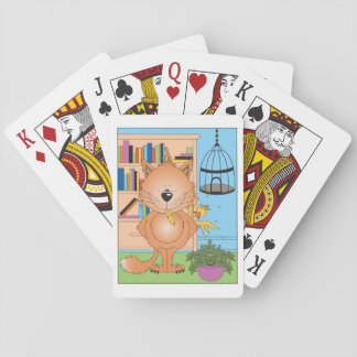 Cute Kitty Cat Cartoon and Friend Poker Cards