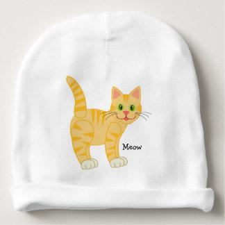 Cute Kitty Cat Cartoon Animal Custom Boy Girl Name Baby Beanie