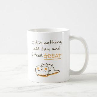 Cute Kitty Cat Do Nothing Amusing Confession Coffee Mug