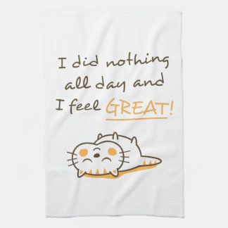 Cute Kitty Cat Do Nothing Amusing Confession Towels