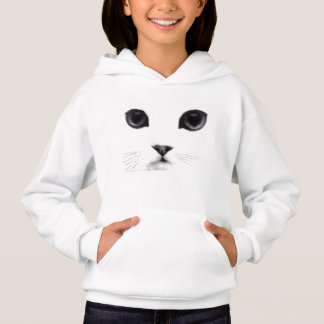 Cute Kitty Cat Face Hoodie