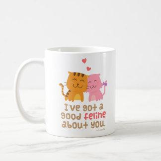 Cute Kitty Cat Feline Love Confession Pun Humor Coffee Mug
