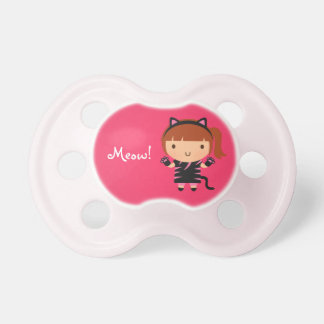 Cute Kitty Cat Girl Meow Baby Halloween Pacifier