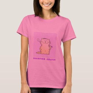 Cute Kitty Cat Golfer T-Shirt