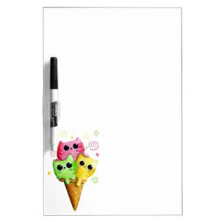 Cute Kitty Cat Ice Cream Dry-Erase Whiteboards