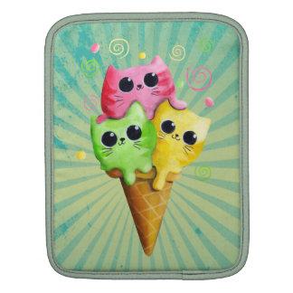 Cute Kitty Cat Ice Cream Sleeves For iPads