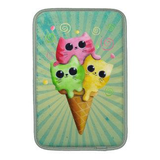 Cute Kitty Cat Ice Cream Sleeves For MacBook Air