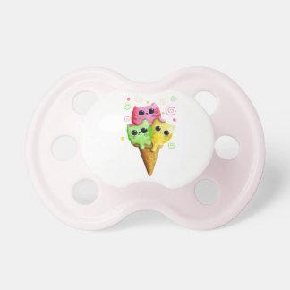 Cute Kitty Cat Ice Cream Baby Pacifier