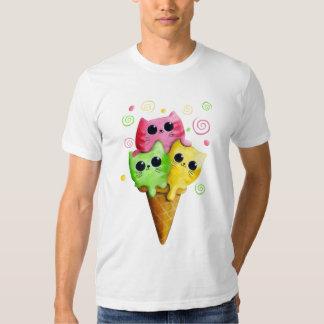 Cute Kitty Cat Ice Cream Tee Shirt