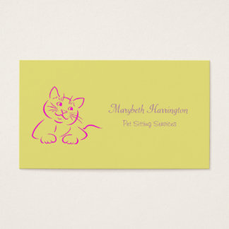 Cute Kitty Cat Illustration Business Card