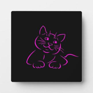 Cute Kitty Cat Illustration Display Plaque