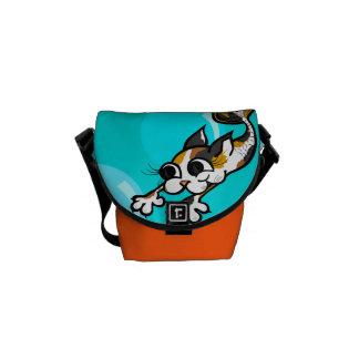 CUTE KITTY CAT MERMAID MINI MESSENGER BAG