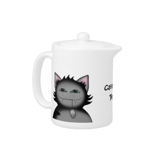 Cute kitty cat personal sized teapot