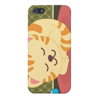 Cute kitty cat sleeping fun iphone 4 cover case